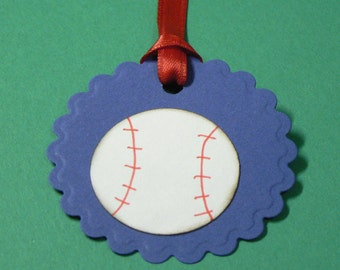 Baseball  Gift Favor tags