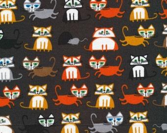 Cloud 9 Fabrics - Happy Drawing by Ed Emberley - Cats Organic - Half Yard