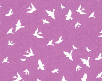 Michael Miller - Brambleberry Ridge by Violet Craft - Flight in Orchid - By the Yard