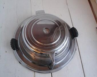 Vintage Waffle Maker Manning Bowman Chrome Model 1637