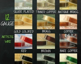 12 gauge  Artistic Wire - 10  Feet  - 3 Meters - Many Colors - 100 Percent Guarantee