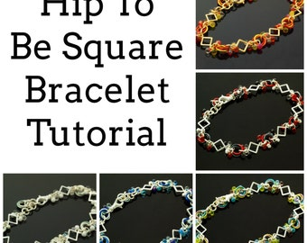 Hip To Be Square Bracelet Tutorial - Fast and Easy - PDF Download