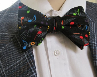 Musical Notes on Black Bow Tie