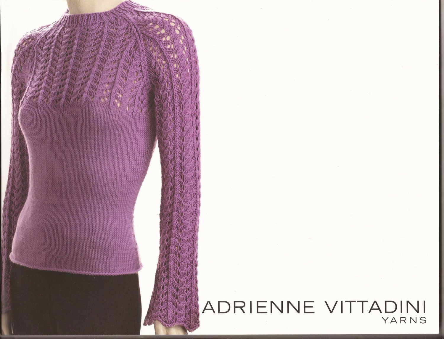 Adrienne Vittadini Knitting Pattern Books : Adrienne Vittadini Knitting Pattern Book vol 24 Pullovers
