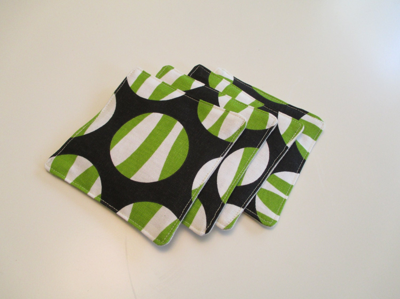 Handmade Fabric Coasters Set Of Four