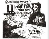 Uncle Sam's War Tab - Bike Sticker