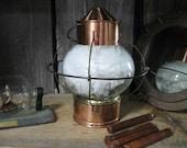 Vintage Ship's Lantern, Onion Lantern, Copper/Brass Onion Lantern, Onion Globe, Naval Lantern, Nautical Lantern,Life Boat Lantern