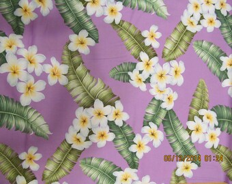 Marianne of Maui Hawaiian Quilting Fabric the SACRED LAVENDER New Arrival