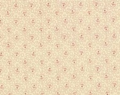 1 yard Midwinter Reds by Minick and Simpson for Moda...little floral cameos on ivory ground
