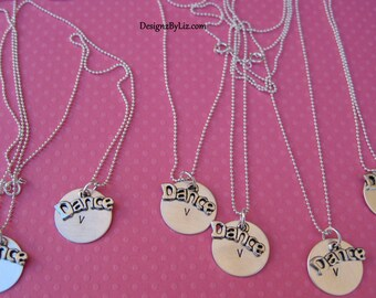 The recital, custom necklace for the dance team