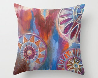 Abstract Mandalas Pillow Cover 16x16, 18x18 or 20x20