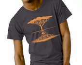 Acacia Tree on Heather Black by Chill Clothing Co