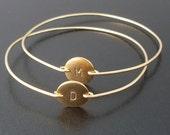 Personalized Jewelry, Initial Bracelet Gold, Personalized Women's Gift, Monogram Bracelet, Gold Monogram Jewelry, Initial Jewelry