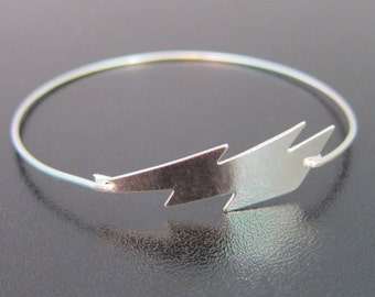 Lightning Bolt Bracelet, Lightning Bolt Jewelry, Weather Jewelry, Cartoon Jewelry, Lightning Bangle, Lightning Bracelet, Lightning Jewelry