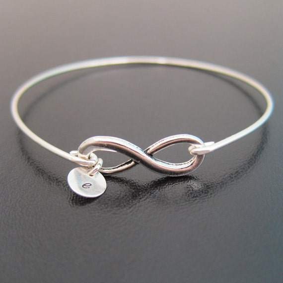 Personalized Bracelet Charms: Personalized Infinity Bracelet With Initial Up To 10 Charms