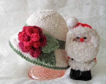 Baby Hats Knitting Knit Baby Hat Knitted Baby Hats Hand Knitted  Brimmed Christmas Baby Hat Cotton Knitted Flower Baby Hat Children Clothing