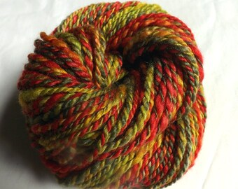 Fruit Salad HANDSPUN Yarn – 100% Wool - 70 yds, Worsted Weight