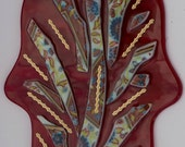 tree of LIfe wall hanging red glass hamsa wall hanging good luck gift