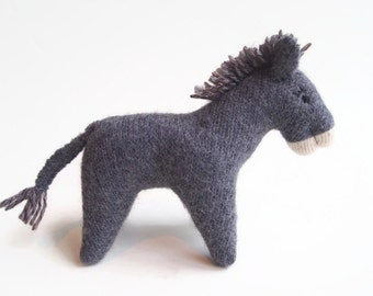 Stuffed toy donkey, waldorf donkey, child's toy, barnyard animal
