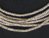 450 Ethiopian Silver Heishi Beads 2mm - African Silver Beads - Metal Heishi - Made in Ethiopia * (MET-HSHI-SLV-254)