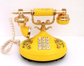 Vintage Empress Yellow Florals Princess Phone