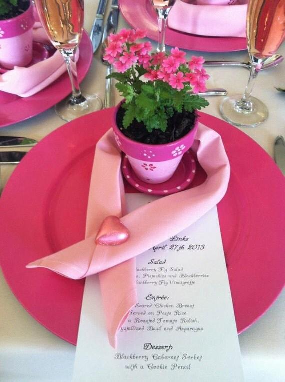 Painted Flower Pots - Small Painted Pots - Wedding Favors - Succulent Planters - Garden Weddings
