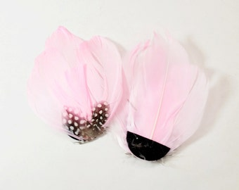 Guinea Goose Feather pad - Pastel Pink (014)