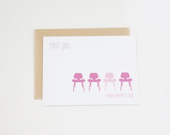 Valentine's Day Card, Miss You, Valentine, Long Distance Valentine Card, Military Valentine Card, Valentines Card, Friend Valentine, Vday
