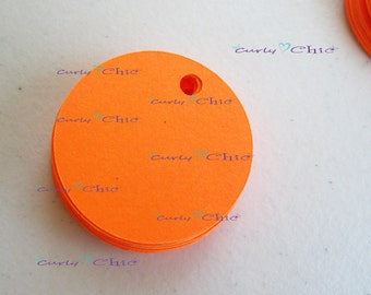 "48 Circle Tag Size 1.50"" -Circles die cuts -Cardstock Circles tags -Circles labels -Paper die cuts -Paper Labels"