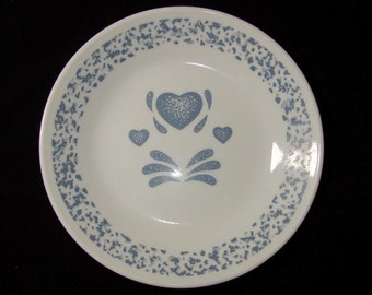 Vintage Corelle Blue Hearts Bread & Butter Plate / Corelle by Corning USA Small Plate