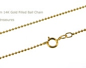 New!  14K Gold Filled Chain 22 Inches 1.2mm Ball Chain - Select Quantity from Dropdown Menu for Bulk Discount