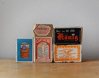 Instant Collection of Vintage Matchboxes Antique and Retro European Assortment Great Graphics.