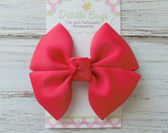 Red Boutique Pinwheel Bow, Girls Red Hair Bow, Red Christmas Hair Bow, Girls Red Holiday Hair Bow, Holiday Hair Bow