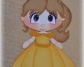 Disney Princess Belle Premade Scrapbooking Embellishment Paper Piecing