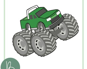 Monster Truck SVG File