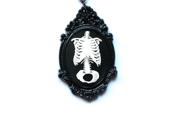 Anatomical Torso Cameo Necklace - Choose your Color!