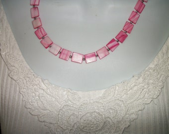 Pink Mother of pearl necklace  on sale