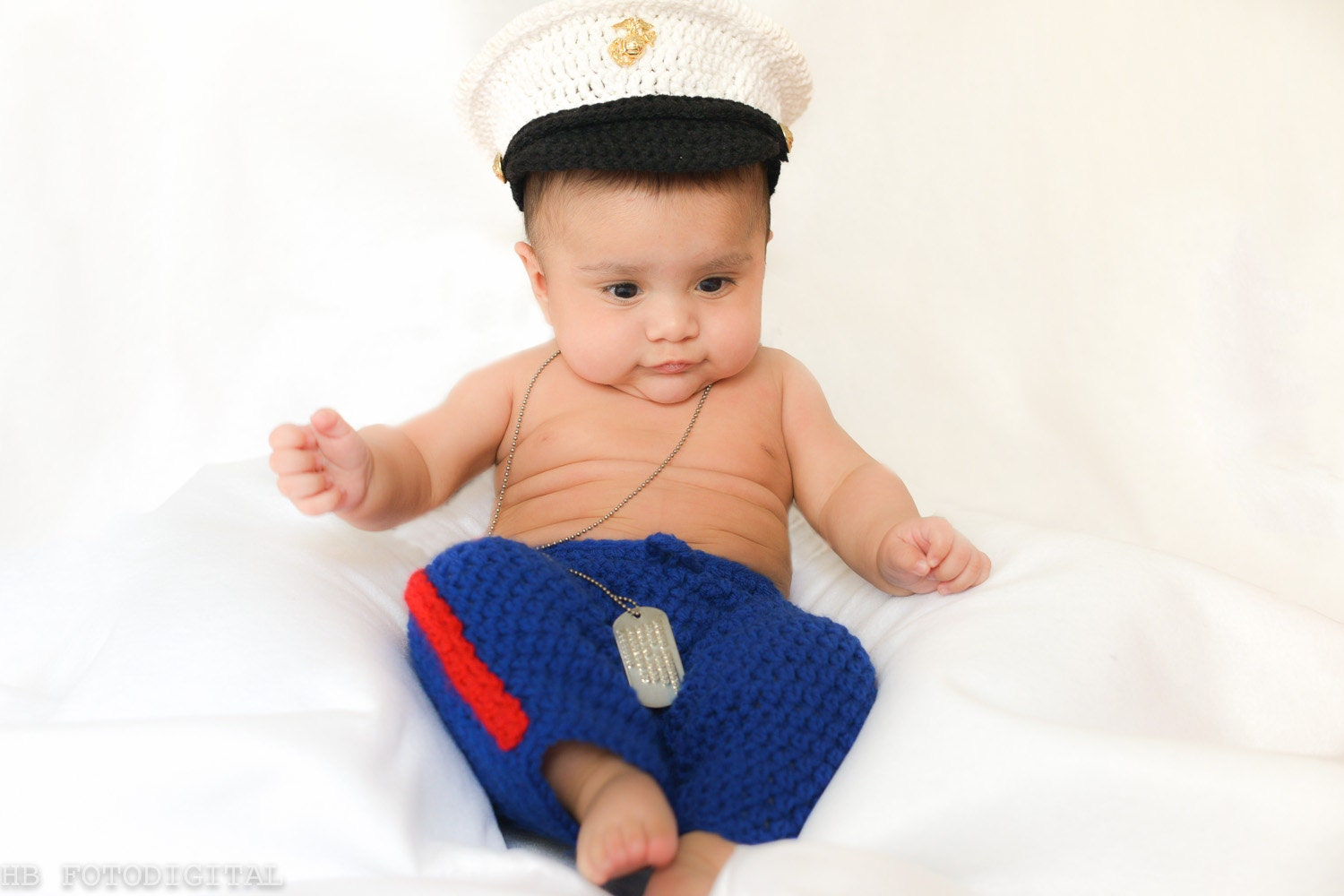 Marine baby clothes usmc baby hat and pants you pick the size