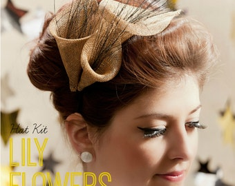 DIY Hat Kit! Make your own Sinamay Lily Flower Fascinator- Includes detailed instructions and materials 25+ colours!