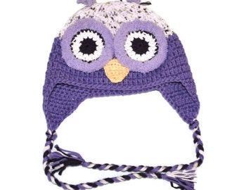 Owl Hat, Cotton Owl Hat, Hat with Eyes