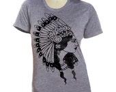 Womens INDIAN PRINCESS t shirt Native American  (sm, med, lg, xl, xxl) skip n whistle