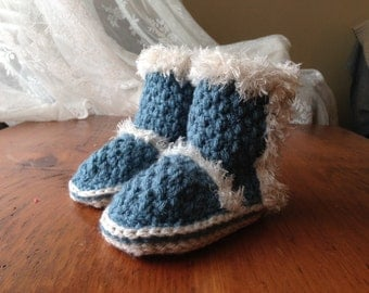 Crochet PATTERN Baby Brighton Crochet Slipper Pattern