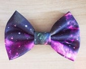 Galaxy Interstellar Space Hair Bow / Bow Tie Pin, Outer Space, Doctor Who Bow Tie, Galaxy Print, Galaxy Bow, Galaxy Hair Tie, Star Hair
