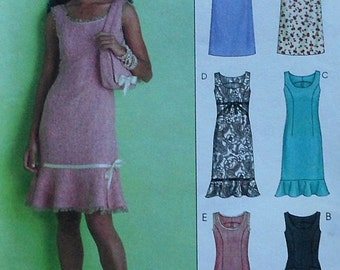 Sleeveless Dress Sewing Pattern UNCUT McCalls M4768 Sizes 8-14
