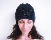 INSTANT DOWNLOAD Crochet PATTERN Herringbone Slouch Hat pdf chunky knit-look winter beanie for her