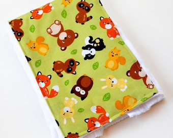 Animal Baby Burp Cloth, Burping Pad Gift, Baby Girl Burpcloth, Infant, Cloth Diaper, Baby Shower Gift, Baby Boy Burp Cloth