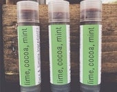 Lime, Cocoa, & Mint Lip Balm // Tube // Organic