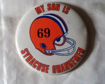 Vintage Syracuse Orangemen Pin. Syracuse Football. SU Sports. 1969. The Orange. Orangemen