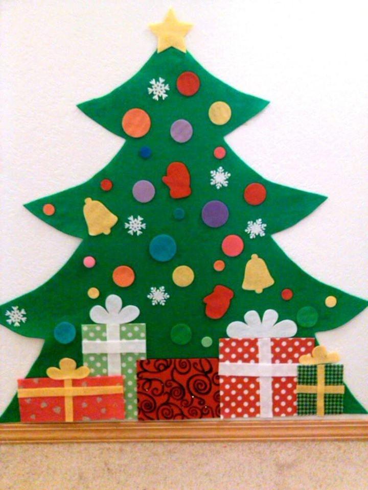 Kids Felt Christmas Tree Felt Tree Wall Hanging Child Size