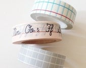 Teacher Gift Washi Tape School Lined Paper Graph Grid Handwriting Washi Tape Gifts for Teachers